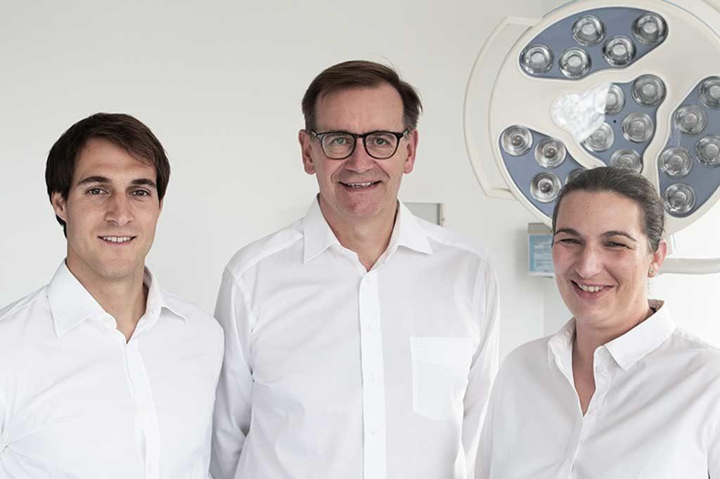 Gruppenbild von Dr. Braun, Dr. Spengler & Dr. Rehr-Person